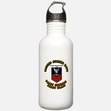 Aviation Electrician Mate (AE) with Text Water Bottle