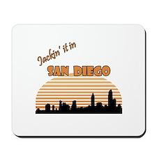 Jacking it in San Diego Mousepad
