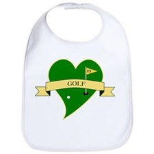 I Love Golf Heart Bib