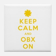 Keep Calm and OBX On Tile Coaster