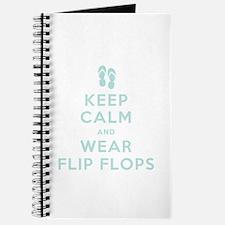 Keep Calm and Wear Flip Flops Journal