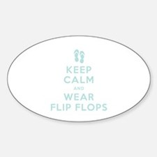 Keep Calm and Wear Flip Flops Stickers