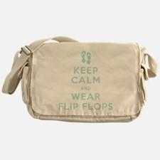 Keep Calm and Wear Flip Flops Messenger Bag