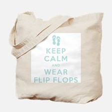 Keep Calm and Wear Flip Flops Tote Bag