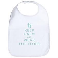 Keep Calm and Wear Flip Flops Bib