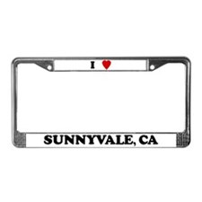 I Love Sunnyvale License Plate Frame