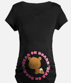 Girl Baby Bear On Board T-Shirt