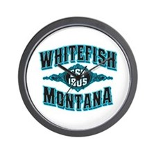 Whitefish 1905 Black Ice Wall Clock