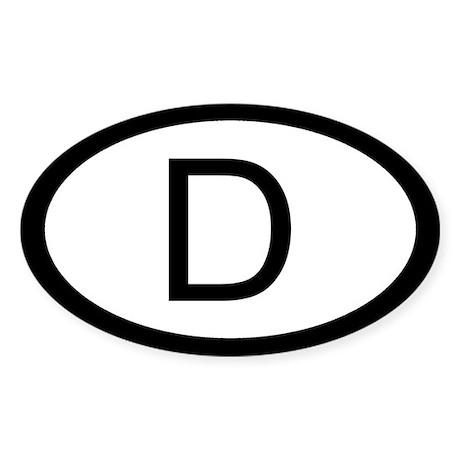 German Car Sticker / Decal (Oval)