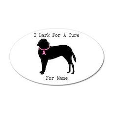 Saint Bernard Personalizable I Bark For A Cure 22x