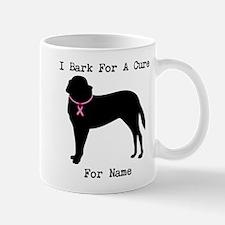 Saint Bernard Personalizable I Bark For A Cure Mug