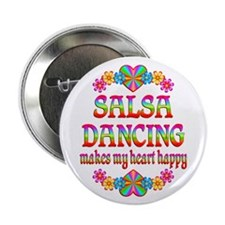 "Salsa Happy 2.25"" Button"