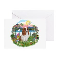 Garden-Shore-Cavalier (BL15) Greeting Card