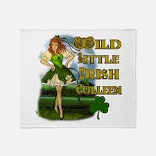 Wild Little Irish Colleen Throw Blanket