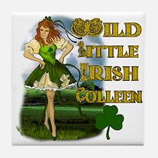 Wild Little Irish Colleen Tile Coaster