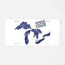 lakes1 Aluminum License Plate