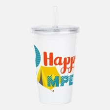 Happy Camper Acrylic Double-wall Tumbler