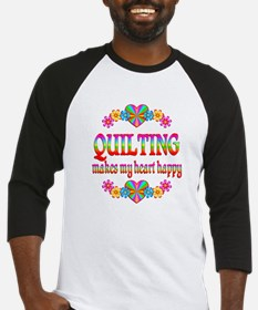 Quilting Happy Baseball Jersey