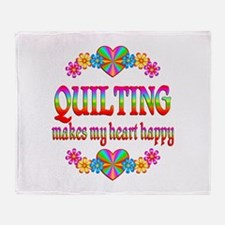 Quilting Happy Throw Blanket
