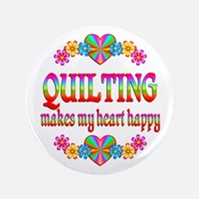 """Quilting Happy 3.5"""" Button"""