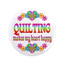 """Quilting Happy 3.5"""" Button (100 pack)"""