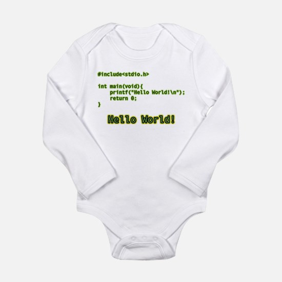 Hello World Code Body Suit