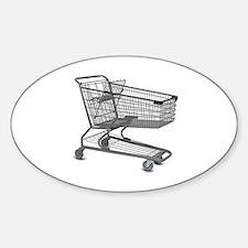 Shopping Cart Sticker (Oval)