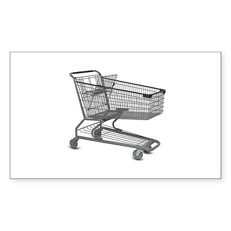 Shopping Cart Sticker (Rectangle)