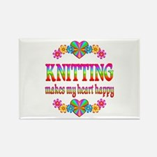 Knitting Happy Rectangle Magnet (100 pack)