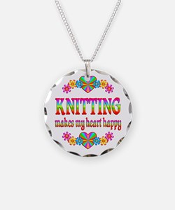 Knitting Happy Necklace