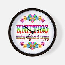 Knitting Happy Wall Clock