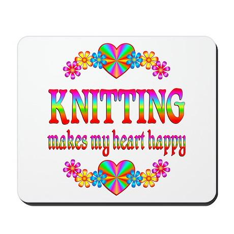 Knitting Happy Mousepad
