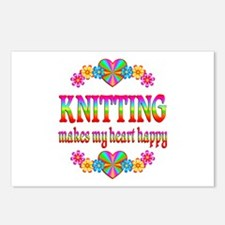 Knitting Happy Postcards (Package of 8)