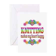 Knitting Happy Greeting Card