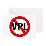 Ban VPL (Visible Panty Line) Greeting Cards (Packa