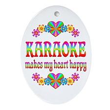 Karaoke Happy Ornament (Oval)