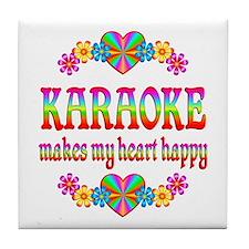 Karaoke Happy Tile Coaster