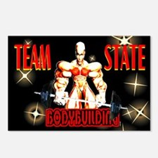 team state bodybuilding Postcards (Package of 8)
