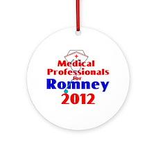 Romney MEDICAL PROFESSIONALS Ornament (Round)