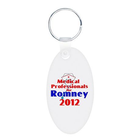 Romney MEDICAL PROFESSIONALS Aluminum Oval Keychai