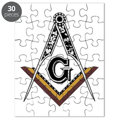 Masonic Square and Compass Puzzle