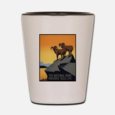National Parks Preserve Wild Life Shot Glass