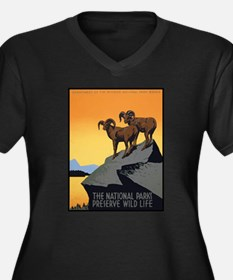 National Parks Preserve Wild Life Women's Plus Siz