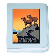 National Parks Preserve Wild Life baby blanket