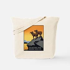 National Parks Preserve Wild Life Tote Bag