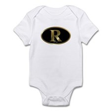 Gold R for Mitt Romney 2012 Infant Bodysuit