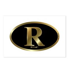 Gold R for Mitt Romney 2012 Postcards (Package of