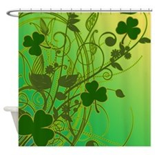 Irish Shamrock Filligree Shower Curtain