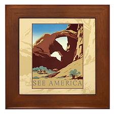 See America Framed Tile