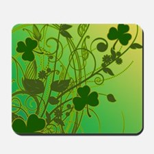 Irish Shamrock Filligree Mousepad